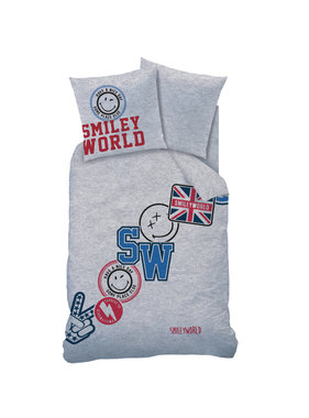 Smiley World Spirit Dekbedovertrek 140 x 200 cm