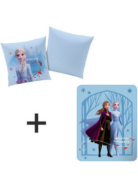 Disney Frozen Set kussen + plaid Adventure
