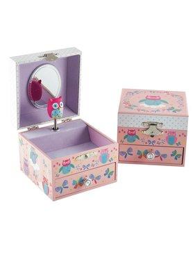 Floss & Rock Owls Jewelry Box - 10.5 x 10.5 x 8.5 cm