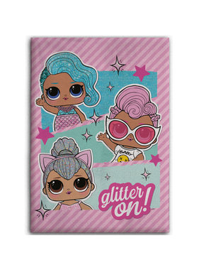 L.O.L. Surprise Fleece blanket Glitter On 100 x 140 cm