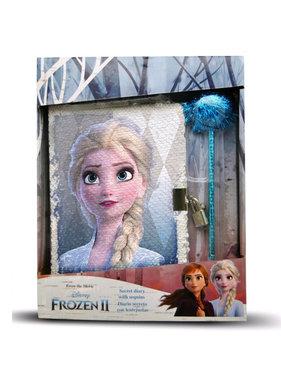 Disney Frozen Dagboek met Pailletten - 28 cm