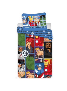 Marvel Avengers Dekbedovertrek Cartoon 140 x 200 cm