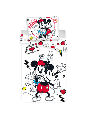 Disney Minnie Mouse Duvet cover Retro Heart 140 x 200 cm