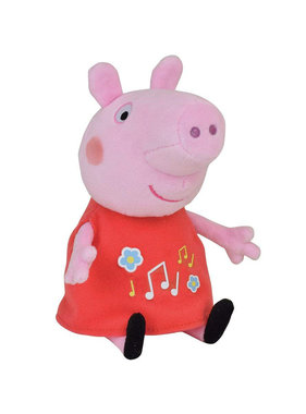 Peppa Pig Hug with musical belly - 17 cm