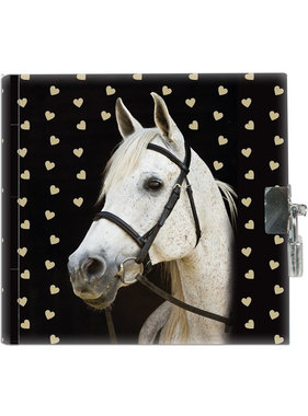 Animal Pictures White horse Diary 13.5 cm