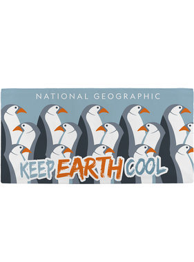 National Geographic Beach towel Penguins 70 x 140 cm
