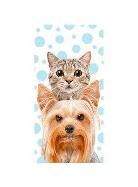 Cat & Dog Strandlaken 140x70cm