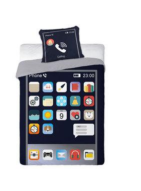 GSM Telefoon Duvet cover Apps 140 x 200 cm