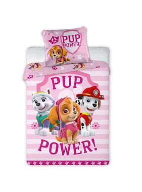 Paw Patrol Pup Power Baby dekbedovertrek 100 x 135 + 40 x 60 cm 100% katoen
