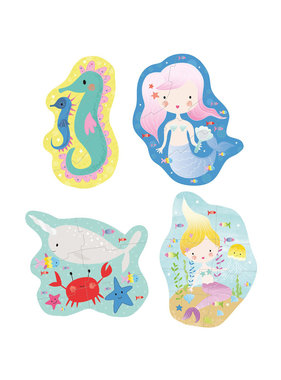 Floss & Rock Mermaid puzzles 4 pieces