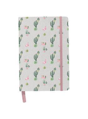 BeUniq Notebook cactus and flamingo A5