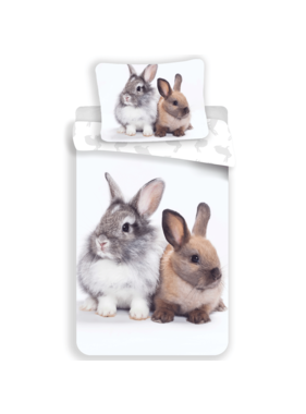 Animal Pictures Dekbedovertrek Bunny Friends 140 x 200