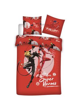 Miraculous Dekbedovertrek Superheroes 140 x 200