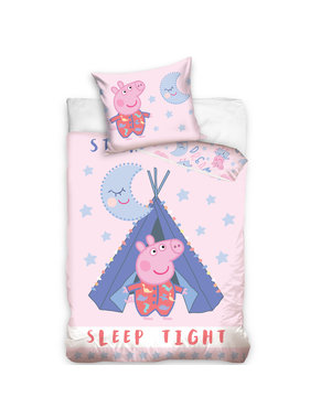 Peppa Pig Duvet cover Sleep Tight - 140 x 200 cm