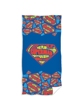 Superman Strandlaken Logo 70 x 140 cm