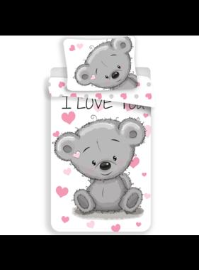 Love Duvet cover Teddy bear 140 x 200