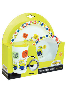 Minions Breakfast set Icons 3 pieces