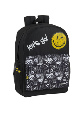 Smiley Graffiti backpack - 43 cm