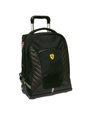 Ferrari Backpack Trolley Nero Premium - 47 cm