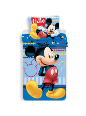 Disney Mickey Mouse Dekbedovertrek Hello 140 x 200