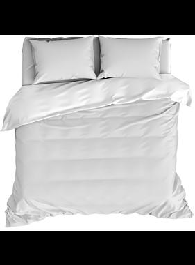 De Witte Lietaer Dekbedovertrek Katoen Satijn Olivia White 260 x 240 cm