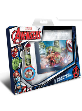 Marvel Avengers Set Digital Watch + Wallet