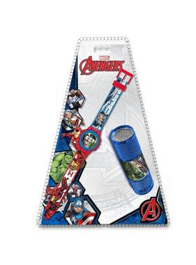 Marvel Avengers horloge + zaklamp SET
