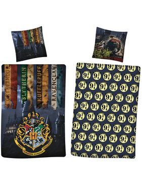 Harry Potter dekbedovertrek polyester 140 x 200 65x65 cm