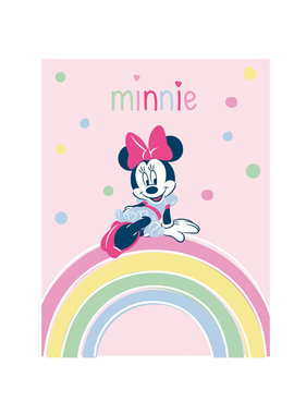 Disney Minnie Mouse Fleece throw Rainbow 100 x 140 cm