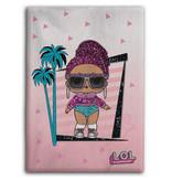 L.O.L. Surprise Fleece plaid Palmtrees - 100 x 140 cm - Pink