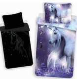 Unicorn Baby Duvet Cover Glow in the Dark - 100 x 135 cm - Purple