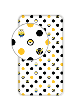 Minions 2 Fitted sheet Dots 90 x 200 cm