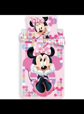 Disney Minnie Mouse Dekbedovertrek Stippen 140 x 200