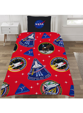 NASA Dekbedovertrek Mission Patches 135 x 200