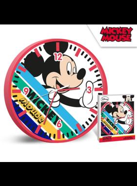 Disney Mickey Mouse Wall clock Stripes - ø 24 cm