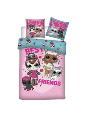 L.O.L. Surprise Dekbedovertrek Best Friends 140 x 200 Flanel