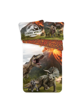 Jurassic World Dekbedovertrek Eruption 140 x 200