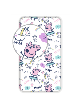 Peppa Pig fitted sheet 90 x 200 cm cotton