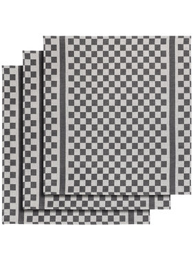 De Witte Lietaer Tea towel Groom-A Black 3 pieces 65 x 70 cm