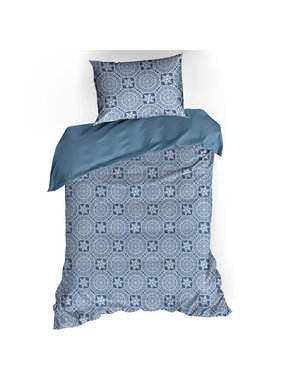 De Witte Lietaer Duvet cover Cotton Satin Henna Blue Horizon 140 x 200/220 cm