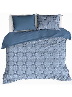 De Witte Lietaer Duvet cover Cotton Satin Henna Blue Horizon 200 x 200/220 cm