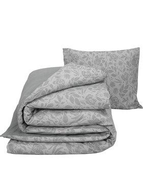 De Witte Lietaer Duvet cover Cotton Flannel Lea Gray 140 x 200/220 cm