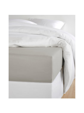 De Witte Lietaer Fitted sheet Cotton Satin Olivia Dove - 140 x 200 cm