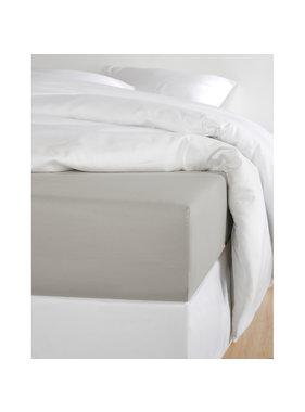 De Witte Lietaer Hoeslaken Katoen Satijn Olivia Dove - 160 x 200 cm