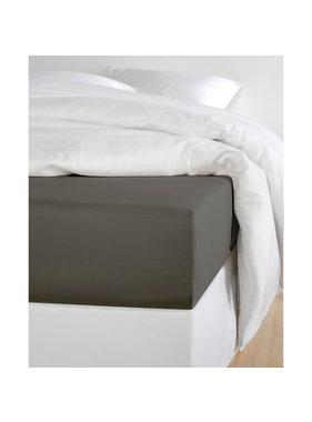 De Witte Lietaer Fitted Sheet Cotton Satin Olivia Ebony - 160 x 200 cm
