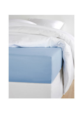 De Witte Lietaer Fitted sheet Cotton Satin Olivia Serenity - 180 x 200 cm
