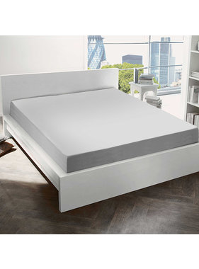 De Witte Lietaer Fitted sheet Cotton Flannel Alva Light Grey - 90 x 200 cm