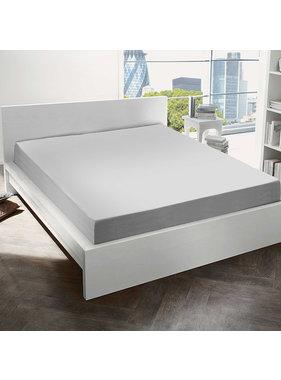De Witte Lietaer Fitted sheet Cotton Flannel Alva Light Gray - 180 x 200 cm