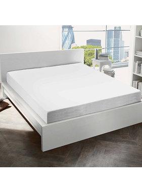 De Witte Lietaer Hoeslaken Katoen Flanel Alva White - 90 x 200 cm
