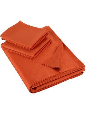 De Witte Lietaer Sheet set double OLIVIA (smart collection) 280x280+60x70(2) rooibos 100% cotton, satin